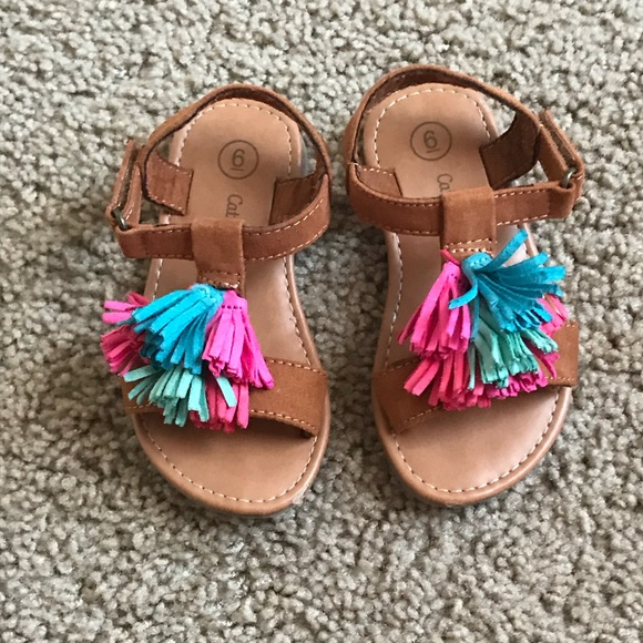 bdbb8e835f07 cat and jack Other - Pom Pom Sandals Baby Girl Size 6